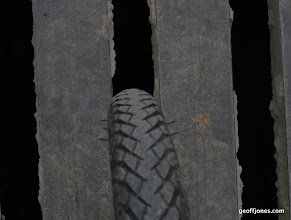 Photo: check wear on tyre