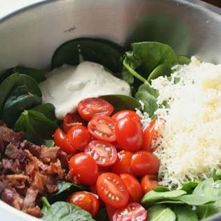 Bacon Tomato Spinach Salad.