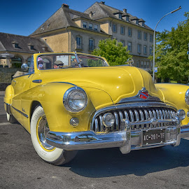 Big Mouth by Marco Bertamé - Transportation Automobiles ( oldtimer, chrome, buick, car, vintage, headlights, yellow, number plate, american, bumper, us, eight )