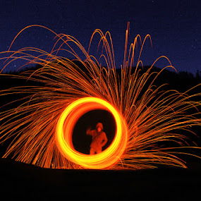 Steel Wool at 2.400 mdpl by Muchamad Bashir - Abstract Fire & Fireworks ( abstract, steel wool, fireworks, fire )