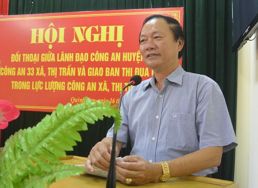 Đồng chí Hồ Ngọc Dũng, Phó Chủ tịch UBND huyện phát biểu chỉ đạo tại hội nghị