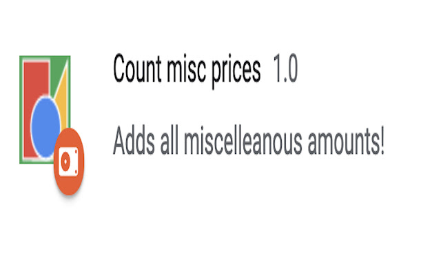 Count misc prices