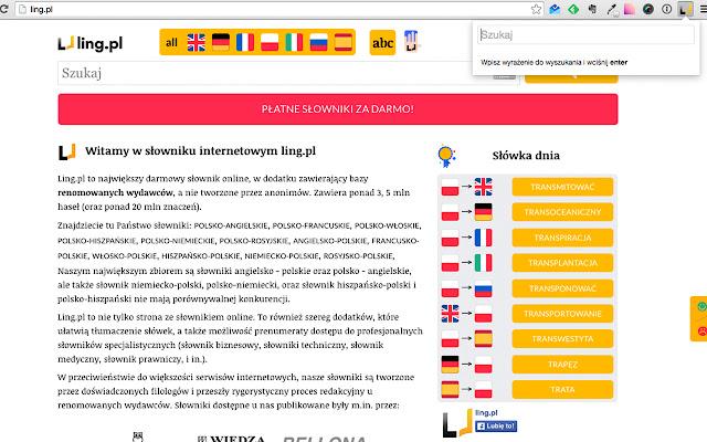 Ling.pl - Szybkie wyszukiwanie