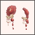 紅梅の髪飾り