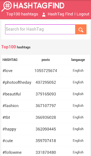 Find hashtags for instagram  screenshots 3
