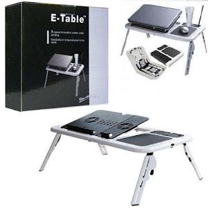 Masa laptop E-Table cu 2 ventilatoare si picioare reglabile