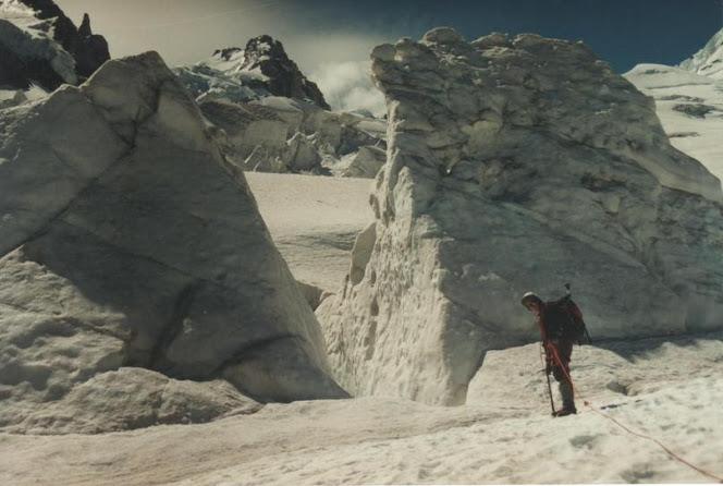 Manu no glaciar des Bossons
