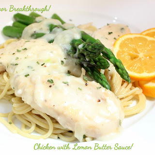 Chicken with Lemon Butter Sauce!