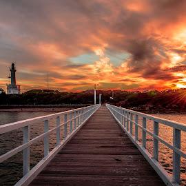 Point Lonsdale, Victoria, Australia by Linda Brown - Buildings & Architecture Bridges & Suspended Structures