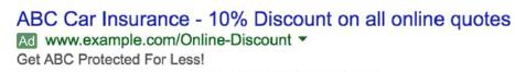 Tiêu đề quảng cáo Google AdWords thứ hai nên dùng để mô tả lợi ích