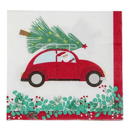 Små servetter - Julbil