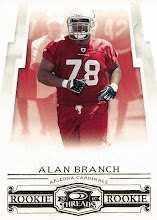 Photo: Alan Branch 2007 Donruss Threads Retail Rookies RC (#394/999)