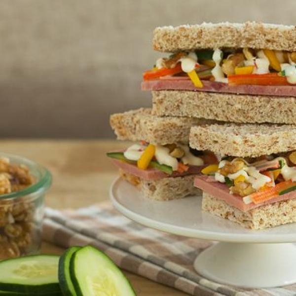 school snack ideas california crab sandwich