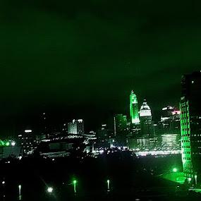Skyline Cincinnati,OH by Daniel Grooms - City,  Street & Park  Night