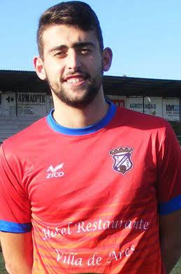 Alberto Permuy Uría. Jugador del Numancia de Ares de Aficionados 2017-2018
