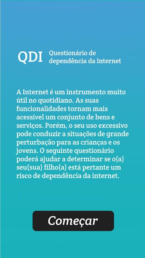 Quiz dependencia da Internet- screenshot