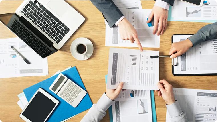 Ilustrasi laporan keuangan Perusahaan Tbk