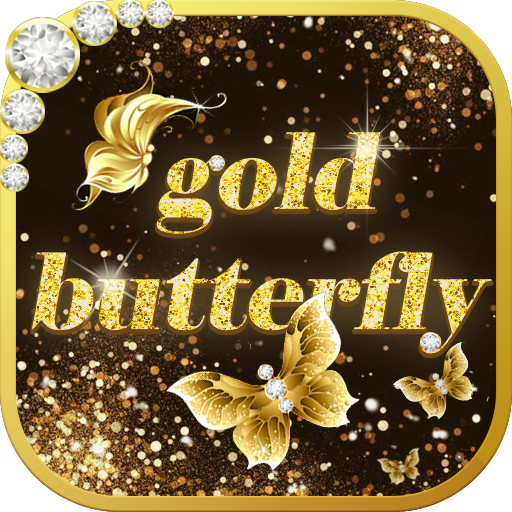 Gold Butterfly Theme Clauncher