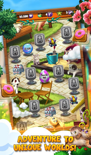 Cool Cats: Match 3 Quest - New Puzzle Game android2mod screenshots 1