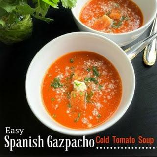 Easy Spanish Gazpacho - Cold Tomato Soup.