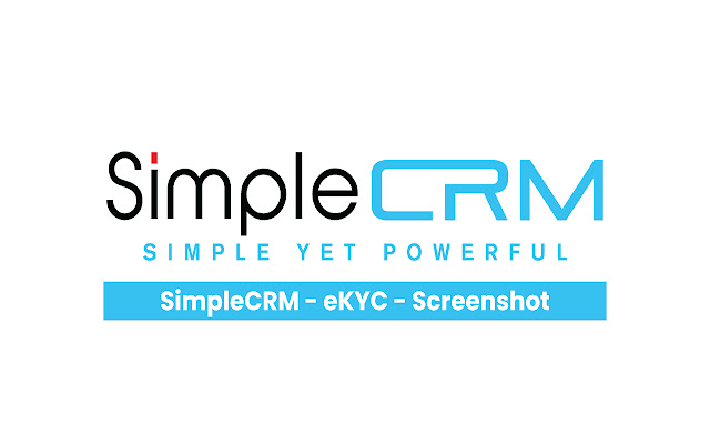 SimpleCRM - eKYC - Screenshot