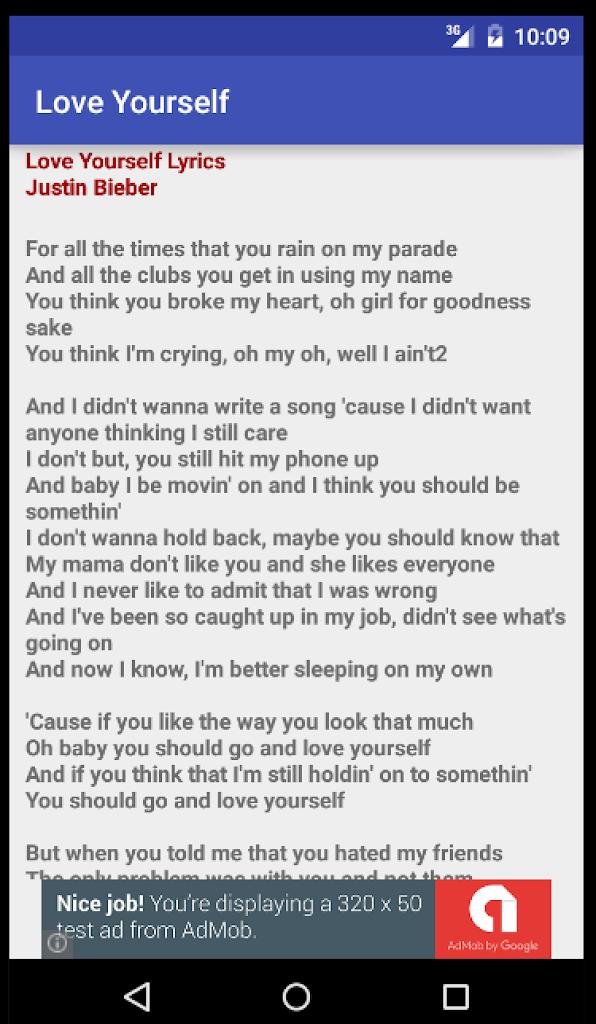 Yourself lyrics love
