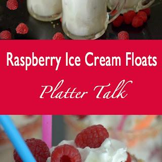 Raspberry Ice Cream Floats
