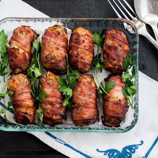 Sausagemeat and Chestnut Stuffing Wrapped in Bacon.