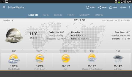 Weather & Clock Widget Android 5.0.1.2 screenshot 951