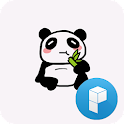 Funny panda launcher theme icon
