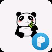 Funny panda launcher theme