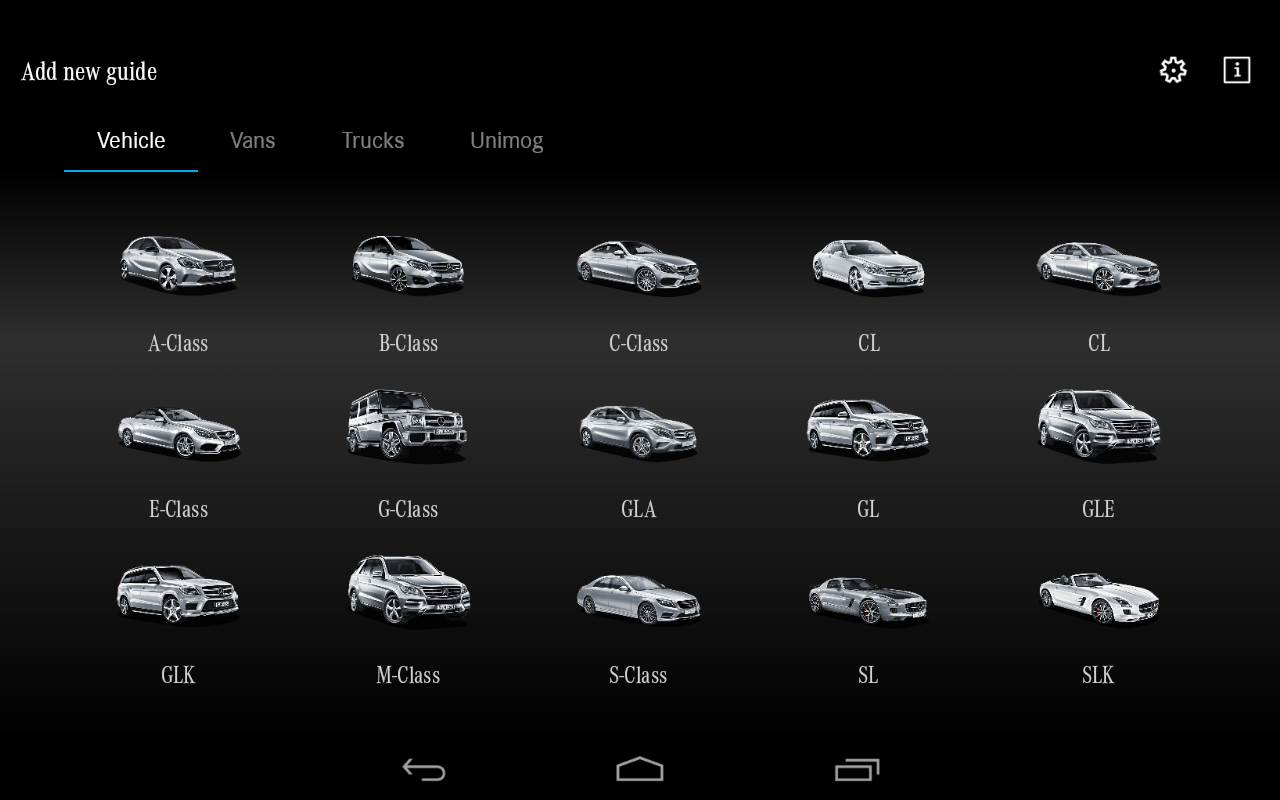 Mercedes-Benz Guides: screenshot