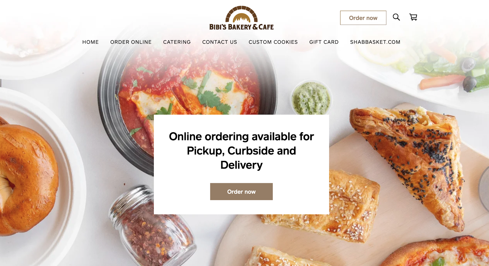 Bakery and Cafe Square Online store landing page