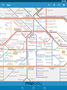 Berlin Subway BVG UBahn SBahn Map And Routes Android Apps - Berlin us bahn map