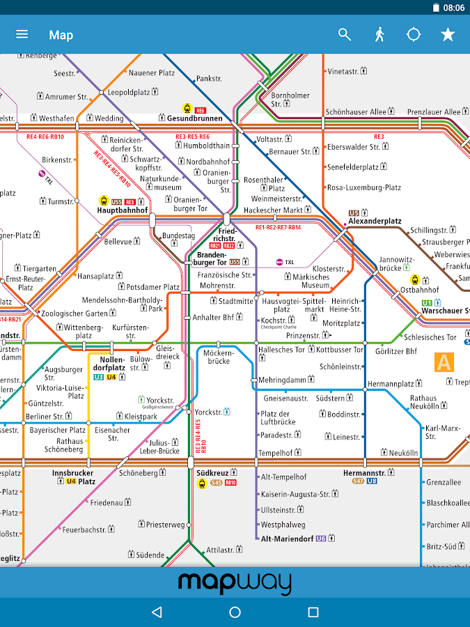 berlin subway bvg u bahn s bahn map and routes android apps on google play. Black Bedroom Furniture Sets. Home Design Ideas