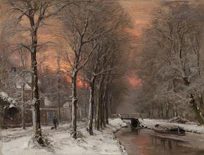 """Photo: Louis Apol, """"Paesaggio invernale al tramonto"""""""