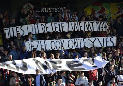 Les supporters d'Ostende taquinent les Courtraisiens