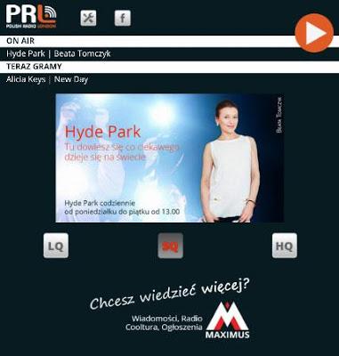 Polskie Radio Londyn - screenshot