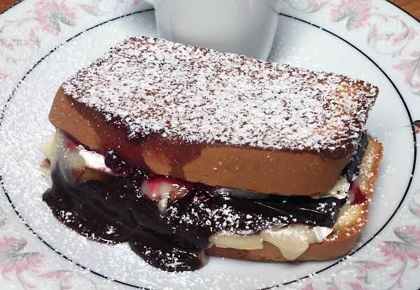 Dark Chocolate Raspberry Grilled Cheese Sandwich