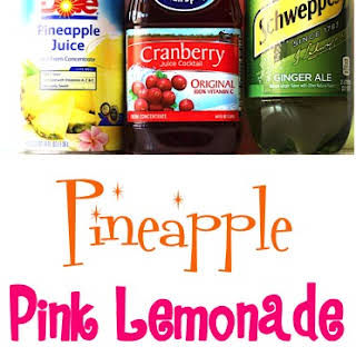 Pineapple Pink Lemonade Party Punch.