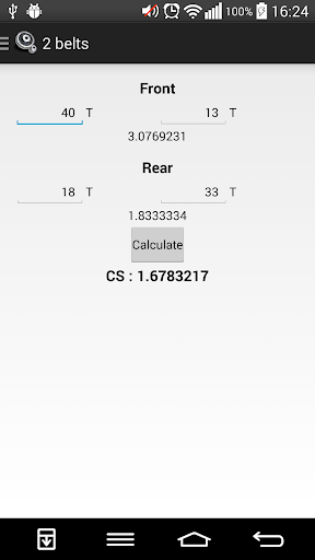 Countersteer Ratio Calculator