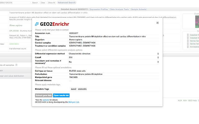 GEO2Enrichr
