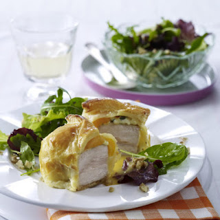 Turkey Wellington with Apricots and Blue Cheese.