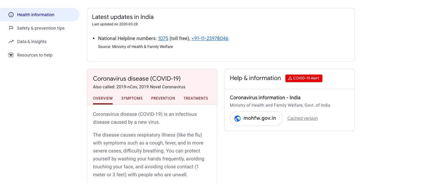 Google Launches India-Specific Website To Provide Up-To-Date COVID-19 Information