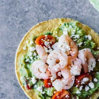 Shrimp Guacamole Tostadas