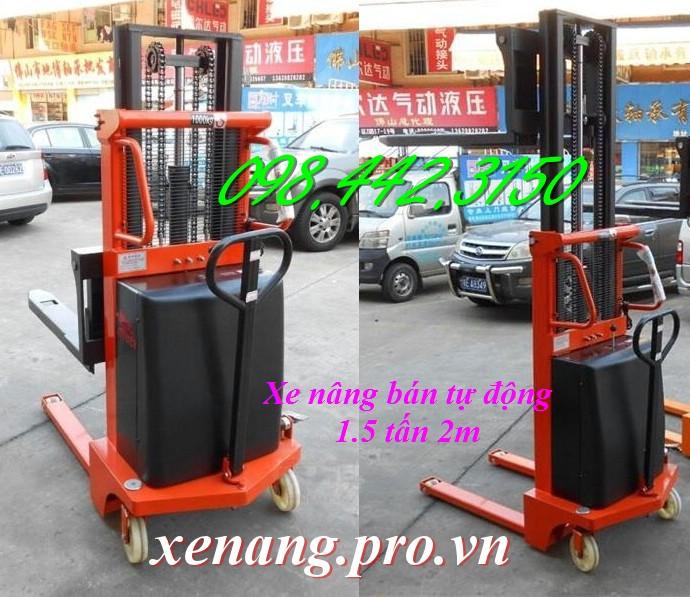 Xe nâng điện bán tự động 1.5 tấn cao 2 mét CTD1520