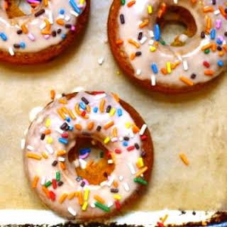 Maple-Glazed Gluten-Free, Dairy-Free Pumpkin Doughnuts.