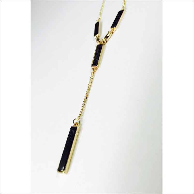 N034 - G. Foursome Bar Lariat Necklace by House of LaBelleD.