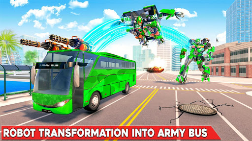 Army Bus Robot Transform Wars u2013 Air jet robot game screenshots 9