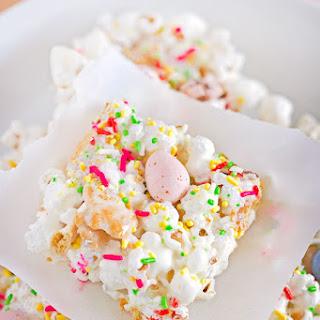Easter Bunny Popcorn Bars.